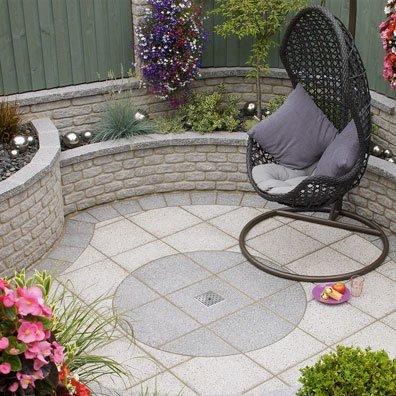 modern garden paving circle